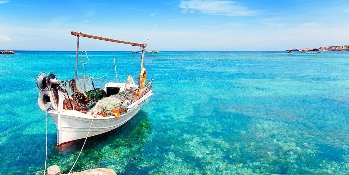 As belezas naturais da Espanha. Balear de Formentera
